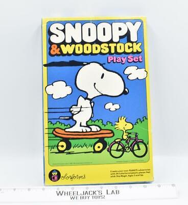 Snoopy & Woodstock Colorforms Play Set 1980's Peyo