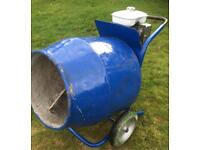 Belle cement mixer Honda petrol engine concrete plaster render PWO any test suit self build DIY
