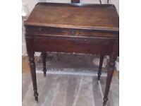 Antique Mahogany School Desk