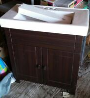 Never used smaller vanity with sink - ASSEMBLED!