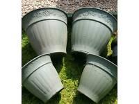 Garden Plant Pots x 4