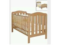Mamas and Papas Cot/ Cotbed with Changing Top