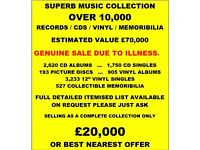 FANTASTIC VINYL / CD / PIC DISC / MEMORABILIA COLLECTION. 10,000+ ITEMS. MANY RARITIES