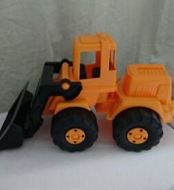 Large Orange Tractor Toy