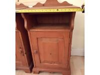 2x Solid Pine Bedside Cabinets, £40 for the pair, Central Brighton