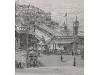 Brighton Palace Pier stunning detailed print from charcoal original