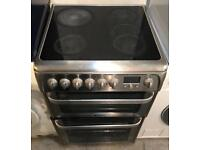 STAINLESS STEEL HOTPOINT ULTIMA ELECTRIC COOKER EXCELLENT CONDITION, 4 MONTH WARRANTY