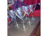 Set of six cocktail glasses