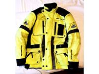 Two Textile Motorcycle Jackets size L/XL