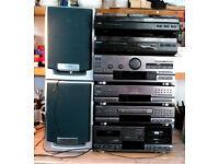 *UNTESTED*SONY LBT-D507-Turntable,Cassette,CD, AMP,Radio.CABLES MISSING bundleJVCT'tableAIWASpeakers