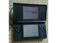 Nintendo DS Lite Black Boxed Pokemon Charger