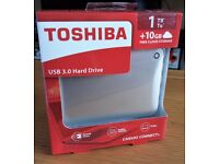 "Toshiba 1TB External 2.5"" Hard Drive Canvio Connect II Satin Gold NEW"