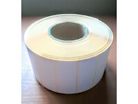 4000 white adhesive address labels *bargain* - Full Industrial Roll - Excellent price - Clearance