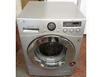 lg 8kg directdrive washing machine in silver colour