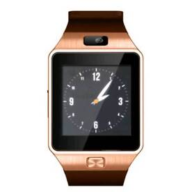 With dark and light gold Bluetooth smart watch for android and iPhone brand new in box