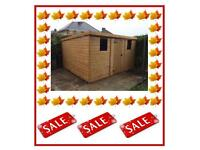 12x6 Pent £679.00 HIGH QUALITY x16mm T&G (FREE DELIVERY AND INSTALLATION) ALL SIZES AVAILABLE