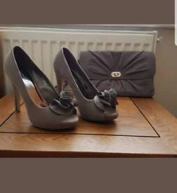 Soft grey shoes size 4