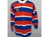 "Men's Raging Bull Stripe Long Sleeve Rugby Polo Shirt Top Size 40"" Chest #1648"