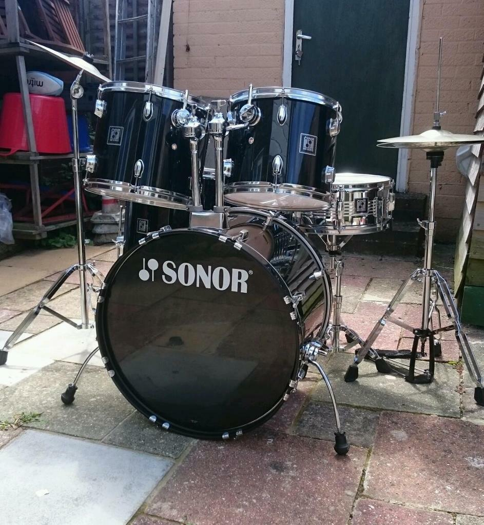 Drum kit full size sonor 503 series in goring by sea for 13 inch floor tom