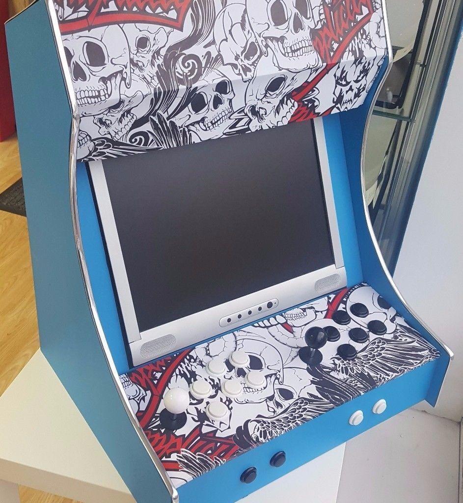 Retro Arcade Desk Box 2 Player Emulator 700 Games Sega Mega Drive Nintendo  SNES Gameboy -