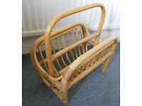 Cane, Bamboo, Bentwood Magazine Rack, Conservatory Use