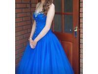 Size 12 Blue Sparkly Prom Dress