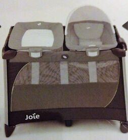 joie travell cot playpen/with bassinet matress /seperate rocker /changing unit,/music