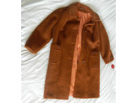Vintage Long Brown pure Llama coat Admyra of London label. Brand new with tags & spare button for sale  Ferndown, Dorset