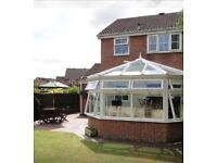 Detached 3 bed in caerleon,private garden with large conservatory