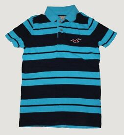 Blue hollister polo shirt