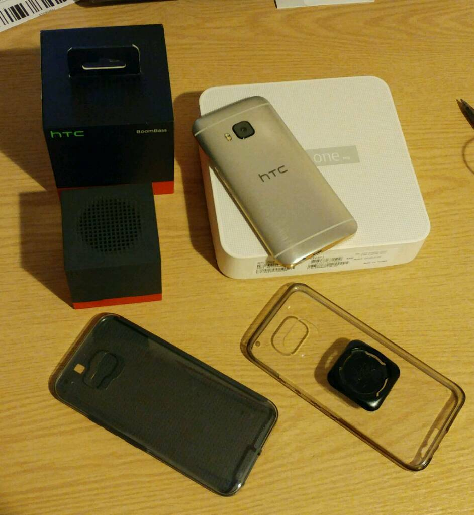 HTC one M9 With HTC Boombass and casesin Southsea, HampshireGumtree - HTC one m9 perfect condition with tempered glass screen protector and accessories shown in the images