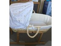 Moses basket. Winnie the Pooh with rocking stand
