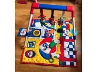 baby playmat with toy bar
