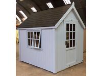 POSH SHED Luxury Garden Shed Ply-Lined Shingle Tiled Roof 8X6