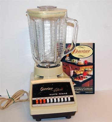 Vintage Osterizer Galaxie Cycle Blend 10 Speed Blender Oster 5c Glass Jar Yellow