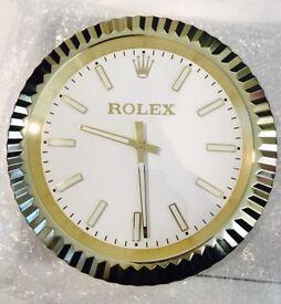 Rolex wall clocks, Classic model, fluted bezel