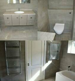Happy painter, bathrooms and builders