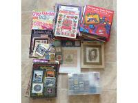Huge Job Lot Cross Stitch Kits, Threads, Books & Charts.