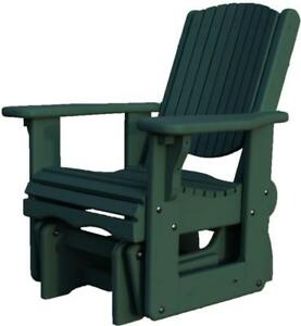 FALL CLEARANCE - Amish made weather resistant local cedar wood glider gliding rocker rocking chair