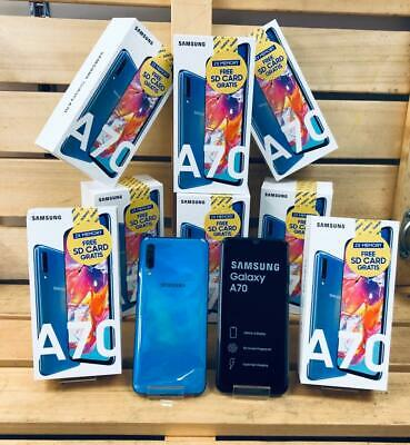 SAMSUNG GALAXY A70 ( A705 ) 128 GB BLUE FACTORY UNLOCK 6.7 INCH NEW 2019 STYLE