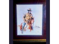 John wayne framed rare print
