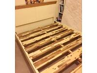 King Size Wooden bed frame and Mattress