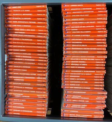 Ordnance Survey Explorer (1:25,000) Maps, orange covers, VG, choose one or more