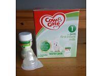 Cow & gate starter pack & extra bottle