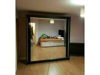 💖👌 HIGH QUALITY 2 DOOR MIRRORED SLIDING WARDROBE WITH DOUBLE GLOSS PANELS, FAST DELIVERY