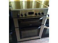 BUSH Silver 60cm electric cooker