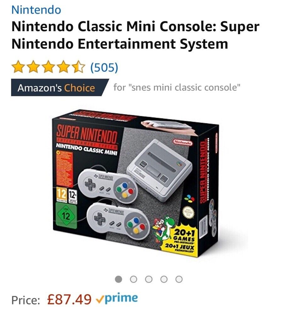 Nintendo Snes Mini Classic Rrp 87 Selling For 50 In Aberdeen