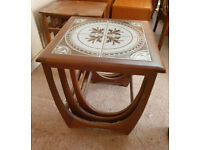 Vintage G-Plan Wooden Nest of Three Tables