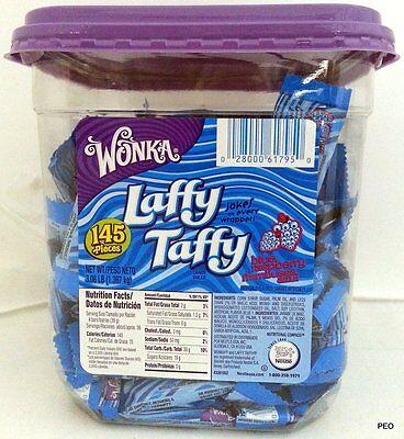 Laffy Taffy Wonka Candy 145 Ct Tub Blue Raspberry Bulk Candies Nestle (Blue Laffy Taffy)
