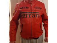 Ferrari Michael Schumacher Red Formula One Leather Jacket